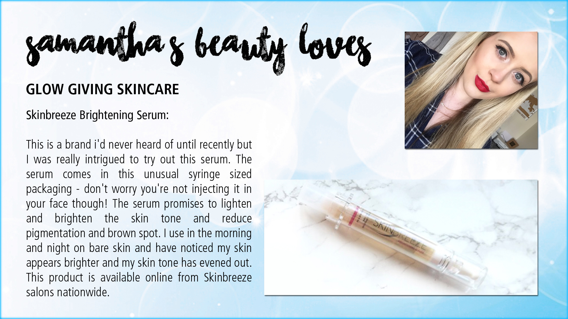Samantha's Beauty Loves