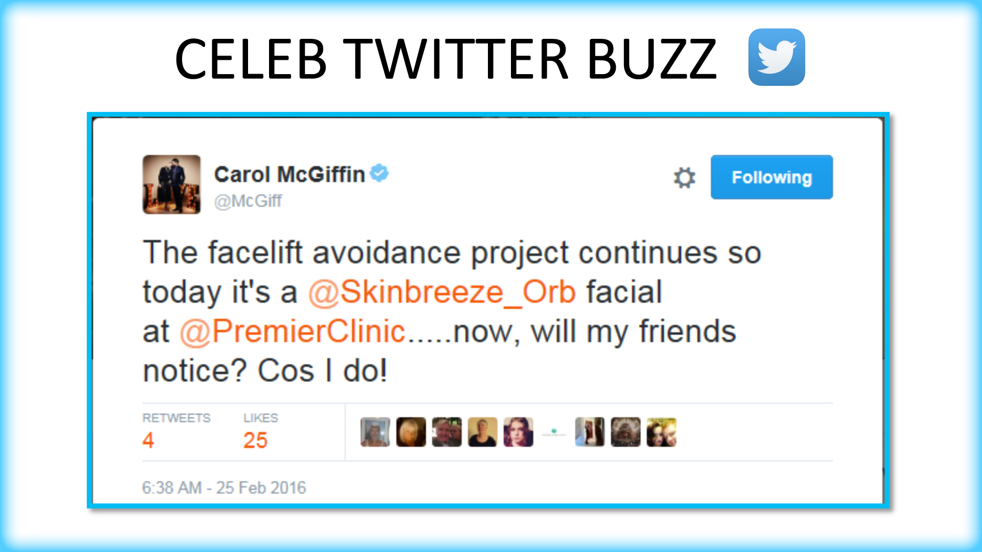 Celebrity Twitter Buzz - Carol McGiffin